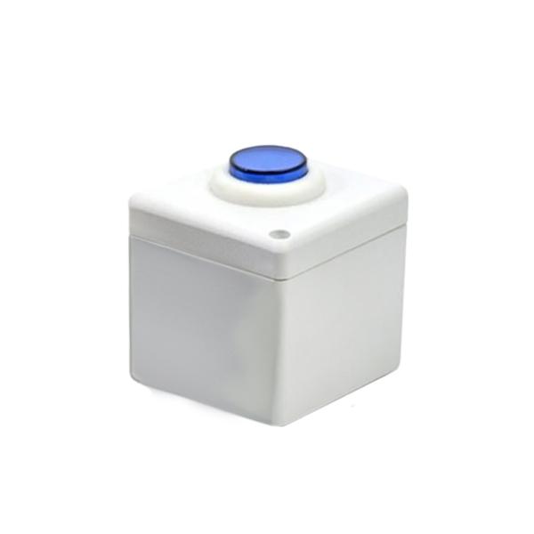 Botoeira NA/NF Branco com Azul - Stilus