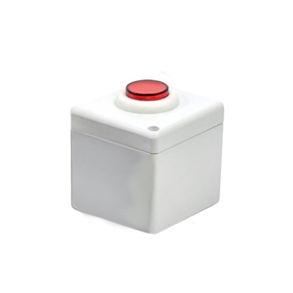 Botoeira NA/NF Branco com Vermelho - Stilus