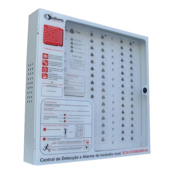 Central de Alarme de Incêndio 12V/64 Setores sem Bateria - Equipel