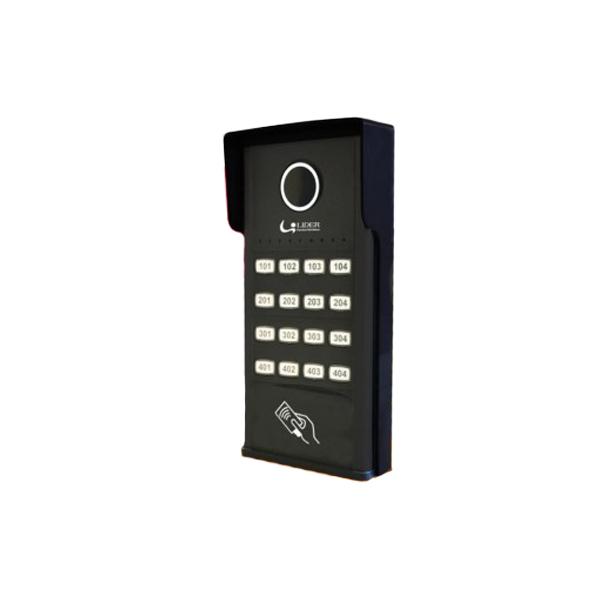 Porteiro Eletrônico Coletivo Smart 16 Pontos c/ RFID - Líder